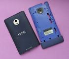 Крышка + средняя часть + стекло камеры HTC Windows Phone 8X синяя