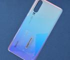Крышка Huawei P30 голубая (Aurora) А-сток