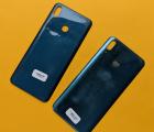Крышка задняя Huawei Y9 (2019) синяя С-сток