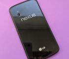 Крышка LG Google Nexus 4 С-сток с рамкой чёрная