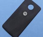 Moto Mod крышка тканевая Motorola Moto Z Force чёрная (А-сток)