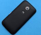 Крышка Motorola Moto E2 чёрная B-сток
