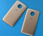 Крышка задняя Motorola Moto E4 золотая B-сток