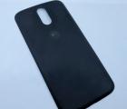 Крышка Motorola Moto G4 (С-сток) чёрная