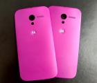 Крышка Motorola Moto X розовая (пурпурная)