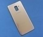 Крышка Samsung Galaxy A8 a530f 2018 золото А-сток