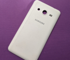 Крышка Samsung Galaxy Core 2 G355 белая А-сток