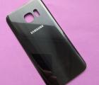Крышка Samsung Galaxy S7 saphire чёрная С-сток (сколы на краске)