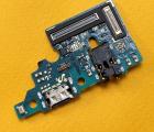 Плата нижняя Samsung Galaxy A51 порт зарядки Type-C оригинал с разборки