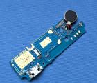 Плата нижняя Wiko Life (C210AE) порт зарядки / микрофон / вибромоторчик