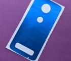 Защитная плёнка задняя Motorola Moto Z2 Force синяя