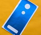 Защитная плёнка задняя Motorola Moto Z3 синяя