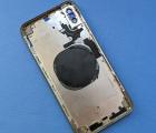 Рамка корпуса Apple iPhone XS Max каркас золотой А-сток