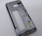 Рамка корпуса Samsung Galaxy S7 Edge серая (Qualcomm) А-сток