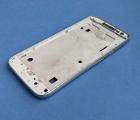 Средняя часть корпуса Motorola Moto G4 Play серебро боковая рамка А-сток
