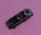 Стекло камеры Xiaomi Mi 9 Se фиолетовый кантик в рамке