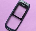 Стекло экрана Nokia 1616 в рамке тёмно-синей (передняя часть) А-сток