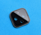 Стекло камеры Google Pixel 4 XL чёрное (А-сток) с разборки в рамке