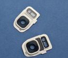 стекло камеры и вспышки Samsung Galaxy S7 g930 белая рамка