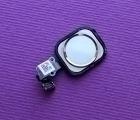 Кнопка Home Apple iPhone 6 белая золотой ободок с разборки