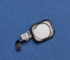 Кнопка Home Apple iPhone 6 Plus белая с серебром c разборки