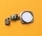 Кнопка home Apple iPhone 6s белая золото с разборки
