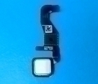 Кнопка home Motorola Moto Z Droid белая (сканер отпечатка)