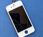 Дисплей (экран) Apple iPhone 4s белый (A-сток) без рамки