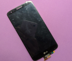 Дисплей (экран) LG G2 vs980 Verizon чёрный