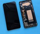 Дисплей (экран) LG V40 чёрный в рамке А-сток