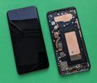 Дисплей (экран) LG V40 чёрный в рамке B-сток