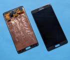 Дисплей (экран) Samsung Galaxy Note 4 чёрный оригинал А-сток