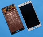 Дисплей (экран) Samsung Galaxy Note 4 (А сток) белый