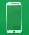 Линза (стекло) Motorola Moto G4 Plus белая