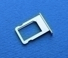 Лоток сим карты Apple iPhone 5s серебро