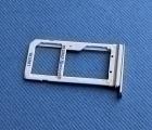 Сим лоток Samsung Galaxy S7 Edge 2 сим серебро
