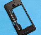 Средняя часть корпуса Nokia Lumia 630 / 635 чёрная  стекло камеры