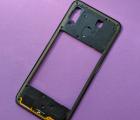 Рамка корпуса боковая Samsung Galaxy A30 2019 a305f чёрная B-сток