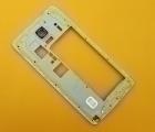 Рамка корпуса боковая Samsung Galaxy Note 4 белая (А сток)