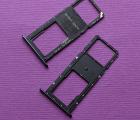 Лоток сим Huawei Y6 (2018) 1 сим чёрный