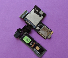 Сим / microSD коннектор на шлейфе HTC One V