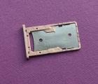 Сим лоток Xiaomi Redmi 4a розовый с разборки