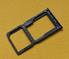Сим лоток Huawei P30 lite чёрный (2 симки)