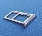 Сим лоток Samsung Galaxy S8 серебро 2 сим
