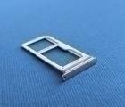 Сим лоток Samsung Galaxy S8 Plus серебро 2 сим